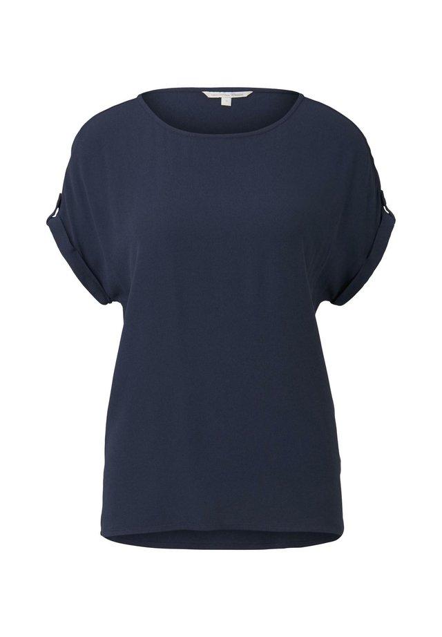 BLUSEN  SHIRTS BLUSENSHIRT MIT TURN UPS - Bluzka - real navy blue