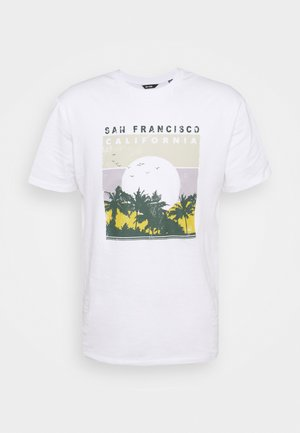 ONSANTHONY LIFE TEE - T-shirt con stampa - white/san francisco