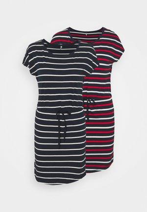 ONLMAY LIFE DRESS 2 PACK - Jersey dress - night sky/multi flame scarlet
