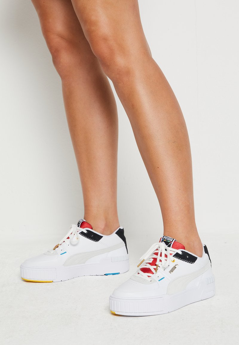 Puma - CALI SPORT - Sneakers laag - white/black/high risk red