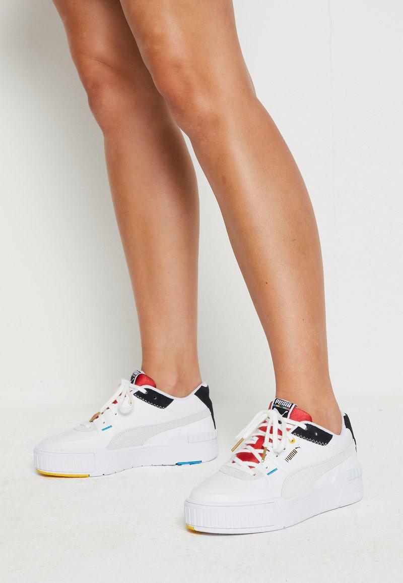 Puma - CALI SPORT - Trainers - white/black/high risk red