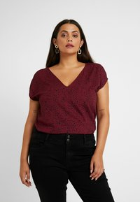 Even&Odd Curvy - Blouse - dark red/black - 0