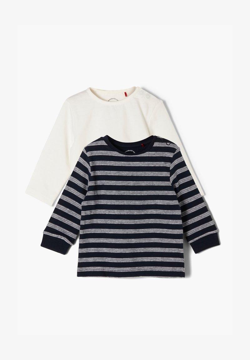 s.Oliver - PACK - Long sleeved top - black/white