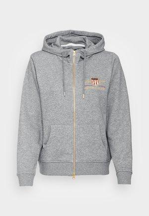 ARCHIVE SHIELD FULL ZIP HOODIE - Zip-up sweatshirt - grey melange