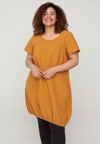 Zizzi - Day dress - yellow - 0