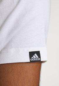 adidas Performance - Print T-shirt - white - 5