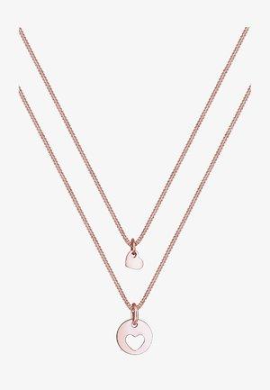 SET HERZ MUTTER KIND LIEBE  - Necklace - roségold-coloured