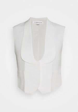TUXEDO WAISTCOAT - Waistcoat - white