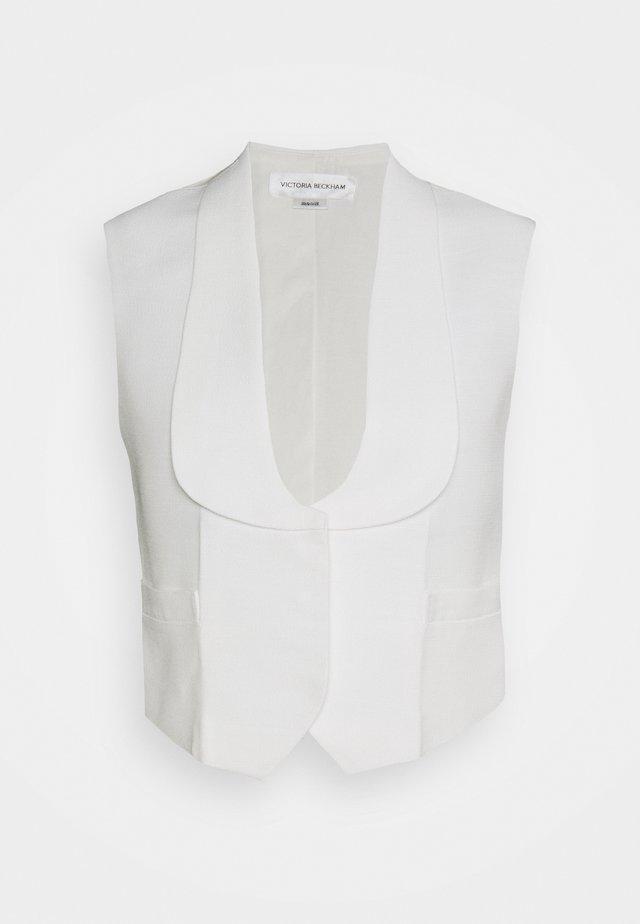 TUXEDO WAISTCOAT - Veste sans manches - white