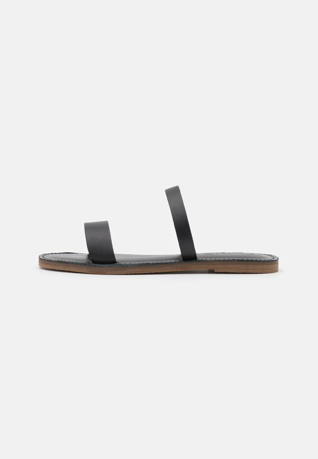 BOARDWALK 2 STRAP RANDA SLIDE  - Matalakantaiset pistokkaat - true black