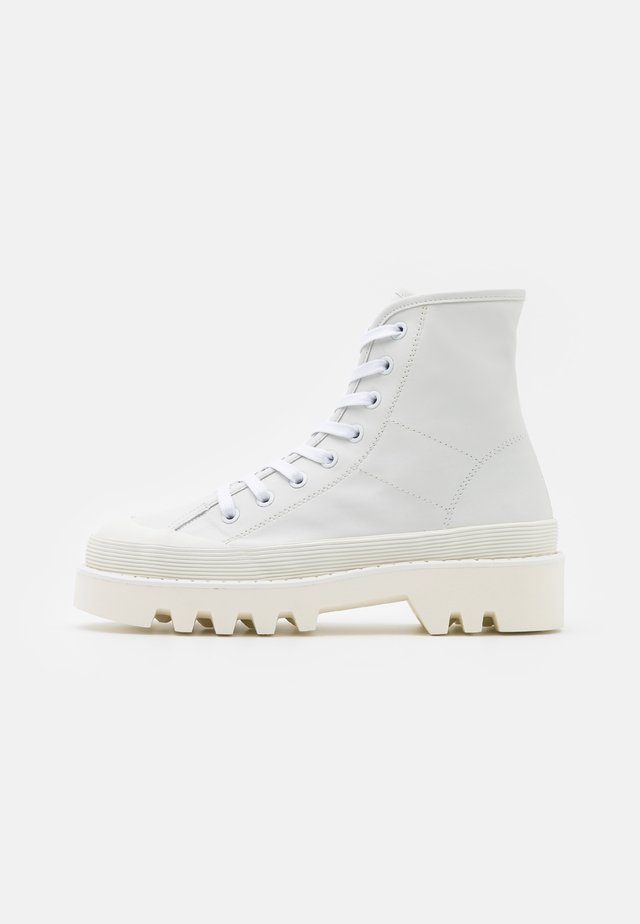 CITY LACE UP BOOT - Snørestøvletter - optic white