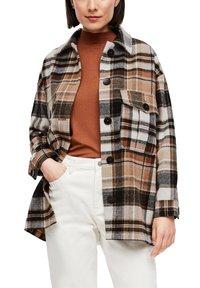 s.Oliver - Light jacket - brown check - 0