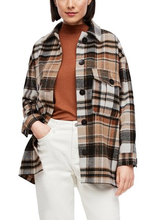 Übergangsjacke - brown check