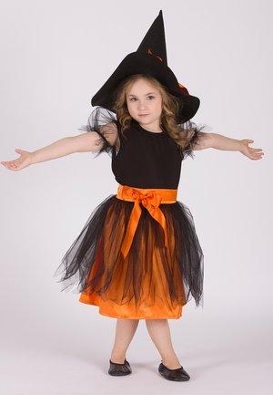 LELA WITH HAT  - Cocktail dress / Party dress - black-orange