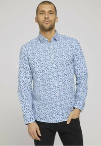 TOM TAILOR - Shirt - white base blue shades design - 0