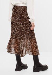 Bershka - A-line skirt - black - 2