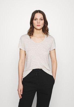 JACKSONVILLE ROUND NECK - Basic T-shirt - creme chine