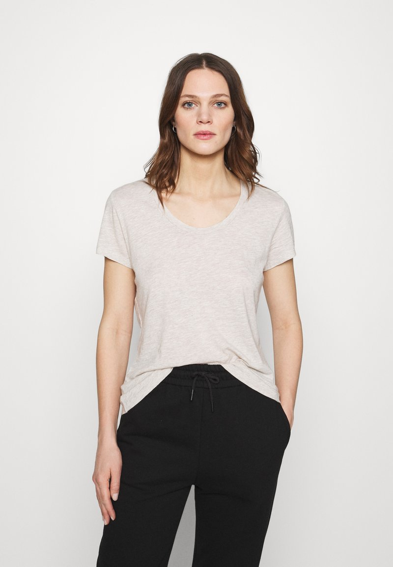 American Vintage - JACKSONVILLE ROUND NECK - Basic T-shirt - creme chine