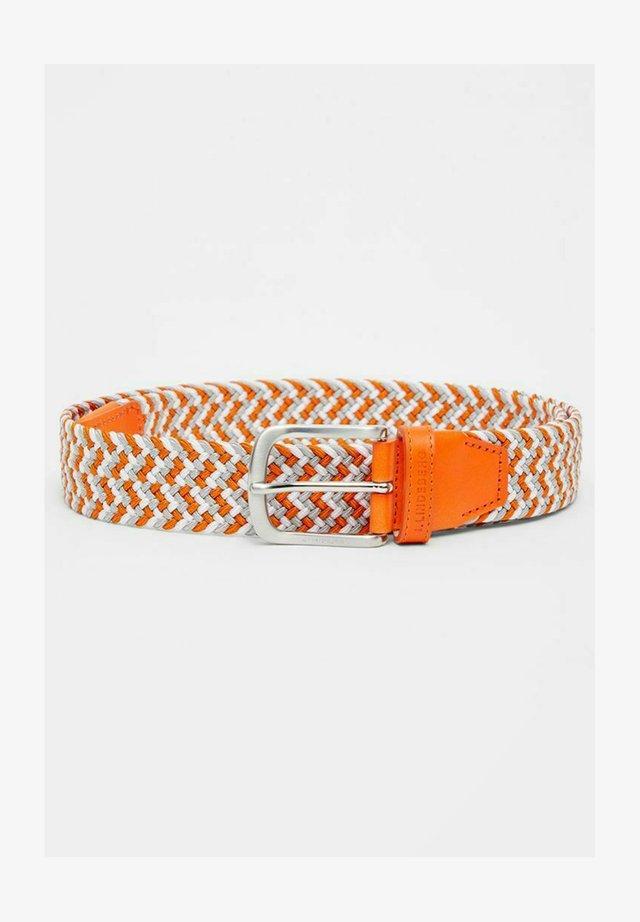 Ceinture tressée - lava orange