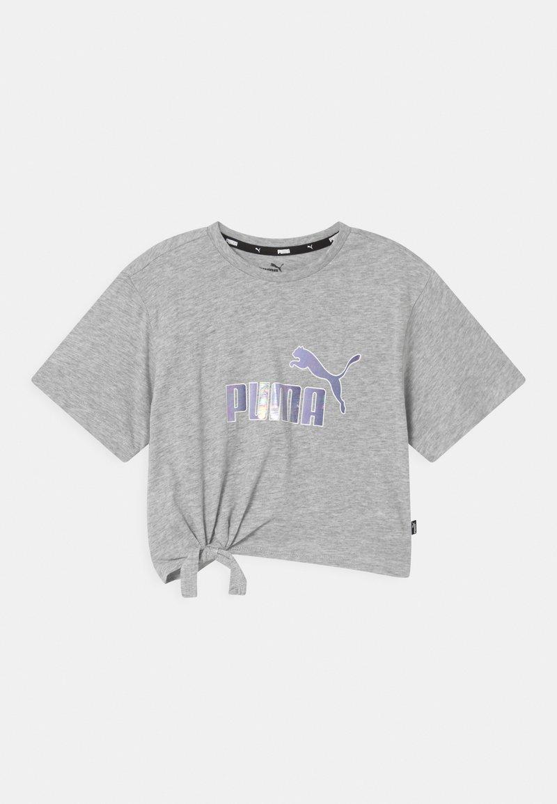 Puma - LOGO SILHOUETTE - Camiseta estampada - light gray heather