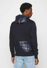 Tommy Hilfiger Tailored - MIXED MEDIA ZIP THRU HOODY - veste en sweat zippée - blue - 2