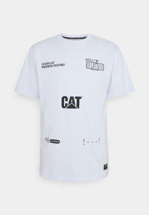 CAT MACHINERY TEE - T-shirt print - white