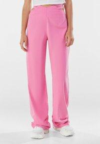 Bershka - Trousers - pink - 0