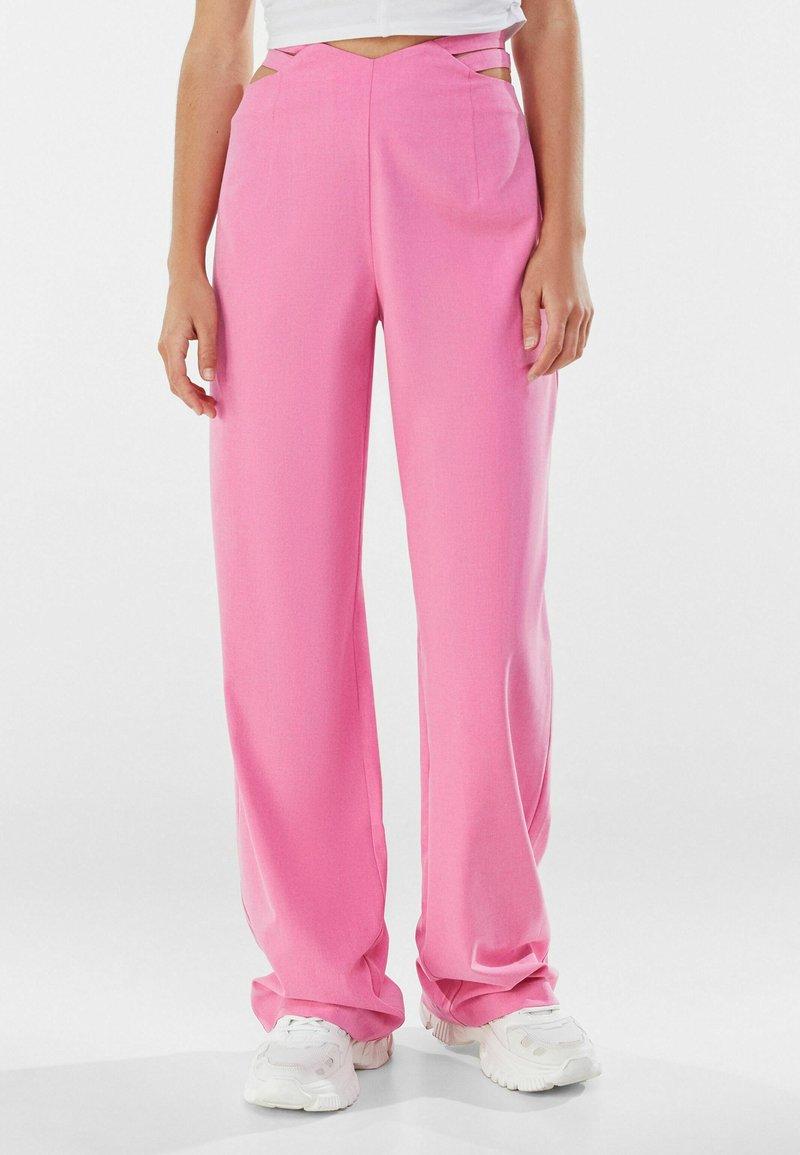 Bershka - Trousers - pink