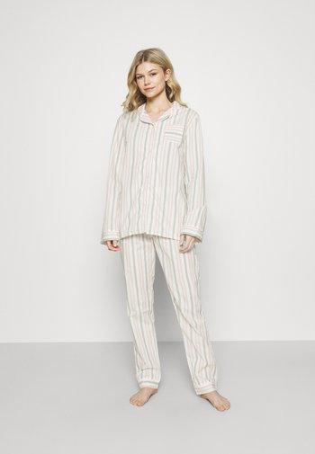 BUTTON PANEL - Pyjamas - white