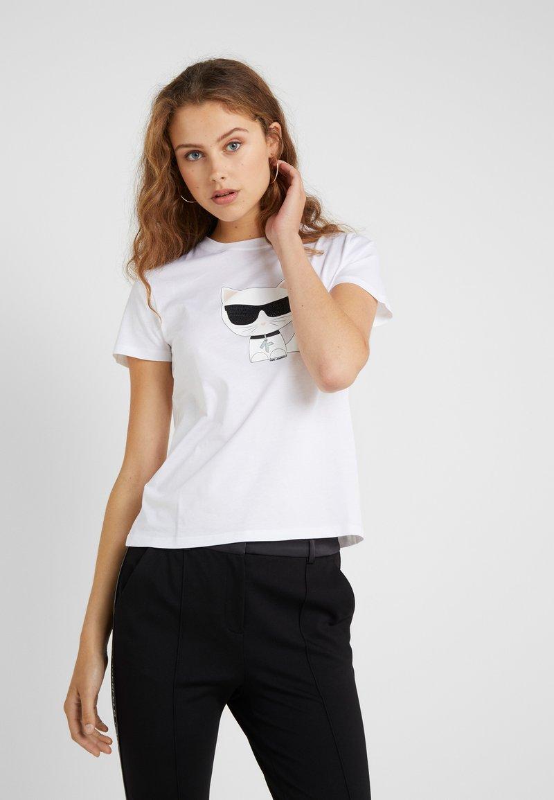 KARL LAGERFELD - IKONIK CHOUPETTE - Print T-shirt - white