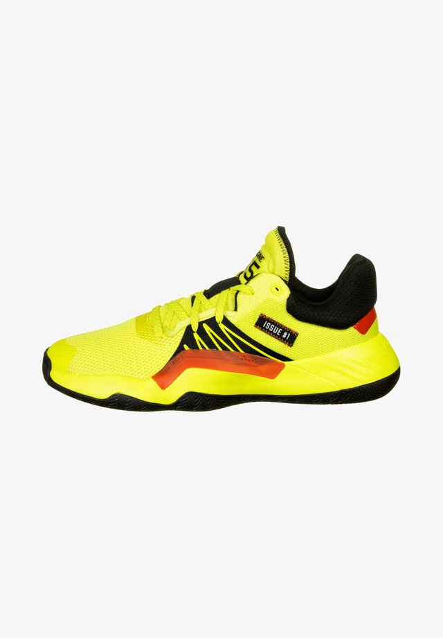 D.O.N. ISSUE - Obuwie do koszykówki - shock yellow / core black / action red