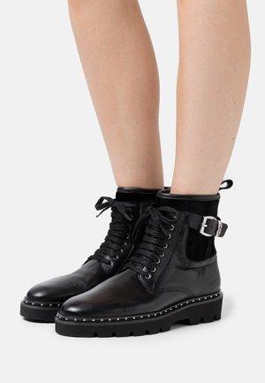 SUSAN - Platform ankle boots - black