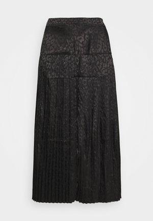 LEOPARD BEATRICE SKIRT - Áčková sukně - black