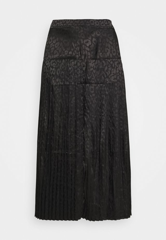 LEOPARD BEATRICE SKIRT - Jupe trapèze - black