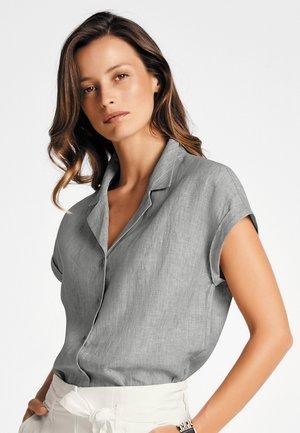 Button-down blouse - hellgrau