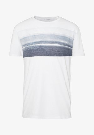 Print T-shirt - white/mood indigo