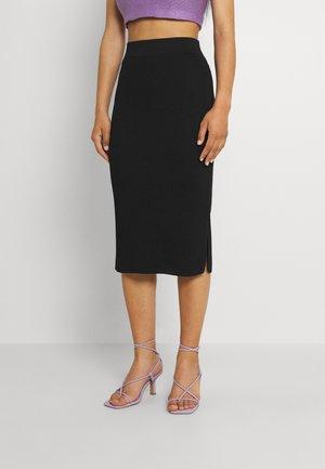 ONLPEACH PENCIL MIDI SKIRT - Pencil skirt - black