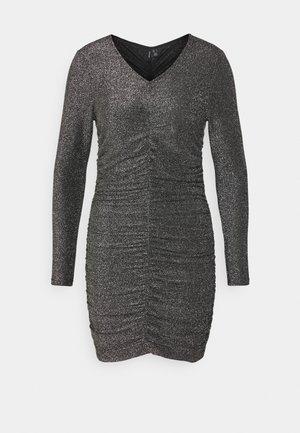 VMJOSEPHINE SHORT DRESS - Žerzejové šaty - black/silver
