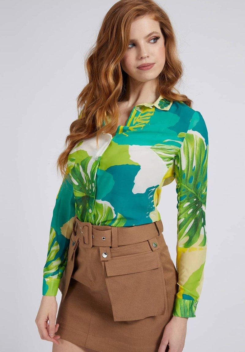 Guess - CLOUIS  - Button-down blouse - mehrfarbig, grün