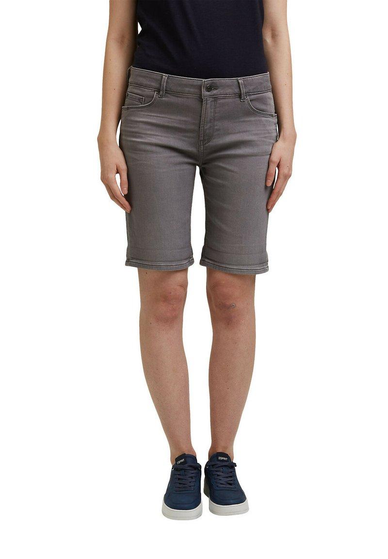 Esprit - Denim shorts - grey medium washed
