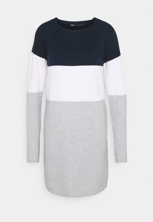 ONLLILLO DRESS - Abito in maglia - night sky/white