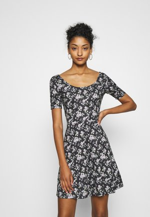 Day dress - black/multi-coloured