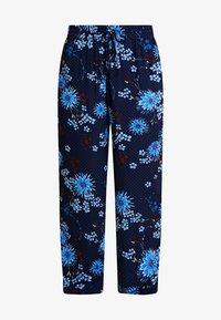 PANTS REGULAR BUT COMFY FIT WIDE - Broek - mottled blue