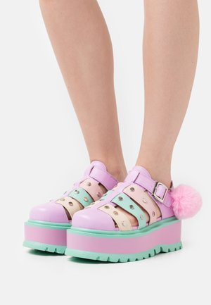 VEGAN NYOKA  - Platform sandals - rainbow