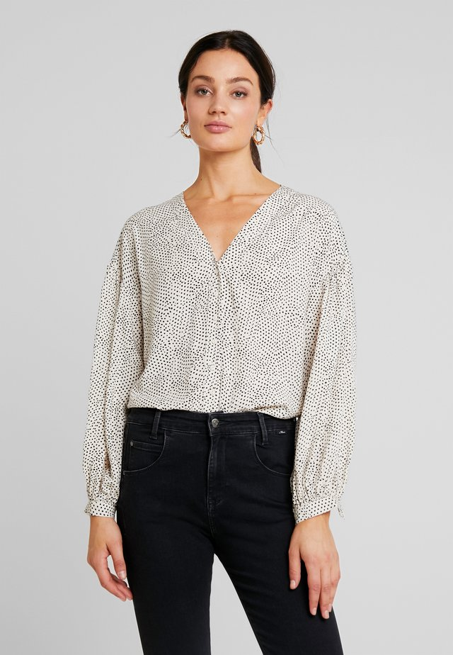 Blouse - offwhite/ darkblue