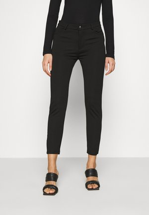 Slim Fit Punto Trousers - Pantaloni - black