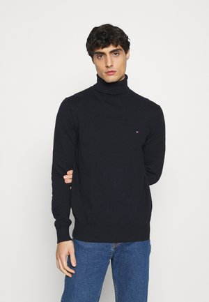 PIMA ROLL NECK - Pullover - desert sky heather