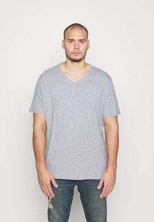 3 PACK - Basic T-shirt - khaki/grey/black