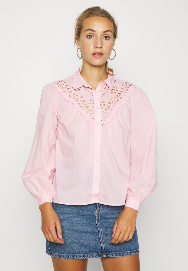 MAX CUTWORK  - Button-down blouse - light pink