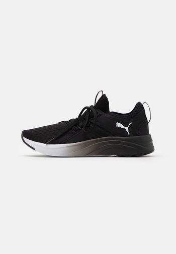 SOFTRIDE SOPHIA FADE - Neutral running shoes - black/white